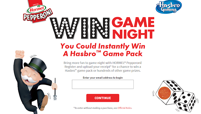 Hormel has your chance to win the ultimate game night! Enter every day for a chance to instantly win a Hasbro game package or other great prizes!