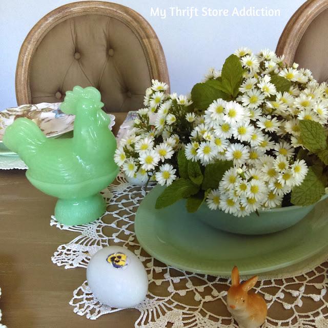 vintage jadeite tablescape
