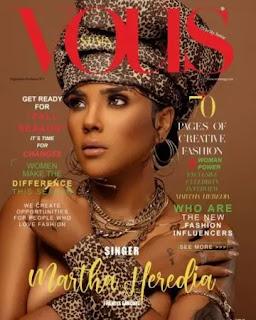 Martha Heredia se apodera de la portada de la revista española Vous
