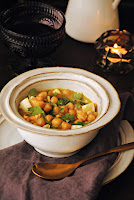 Garbanzos con leche de coco al curry