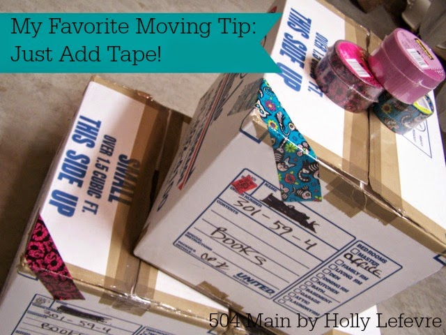 My Favorite Moving Tip: Just Add Tape!