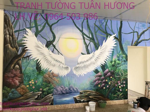 vẽ tranh tường 3d tại hương canh bình xuyên vĩnh phúc1