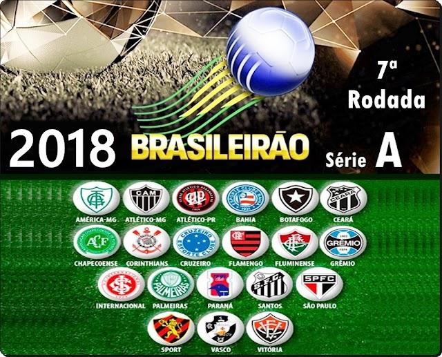 BRASILEIRÃO 2018: TUDO SOBRE A 7ª RODADA
