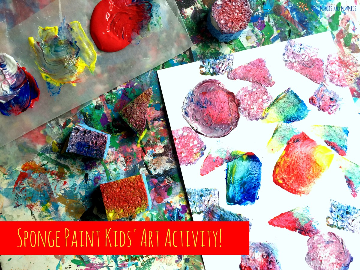 Mini monets and mommies kids 39 art painting with sponges for Sponge painting for kids pictures
