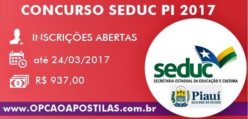 Apostila Concurso SEDUC-PI 2017