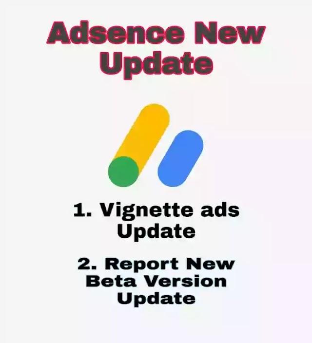 Google Adsense new Update 2020 - Vignette ads and Adsence Report Update