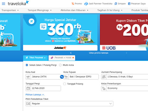 Promo Tiket Pesawat Traveloka 2020