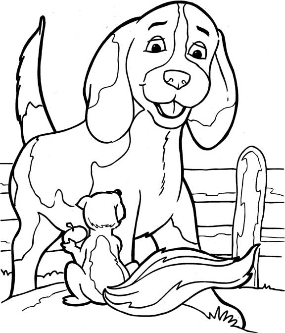 Dogs coloring pages 99