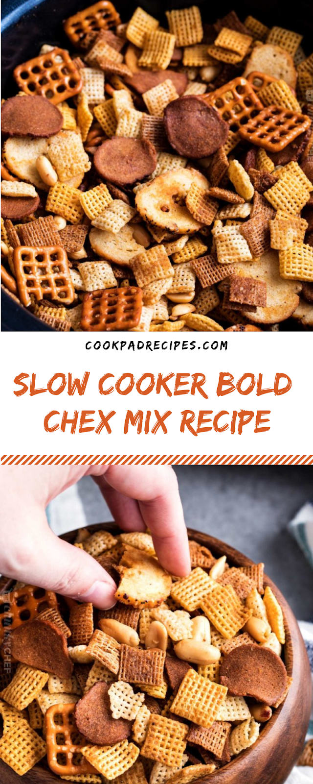 SLOW COOKER BOLD CHEX MIX RECIPE