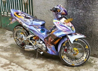 Modifikasi AirBrush Motor Jupiter MX