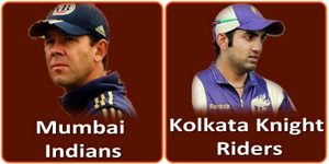 MI Vs KKR is on 7 May 2013