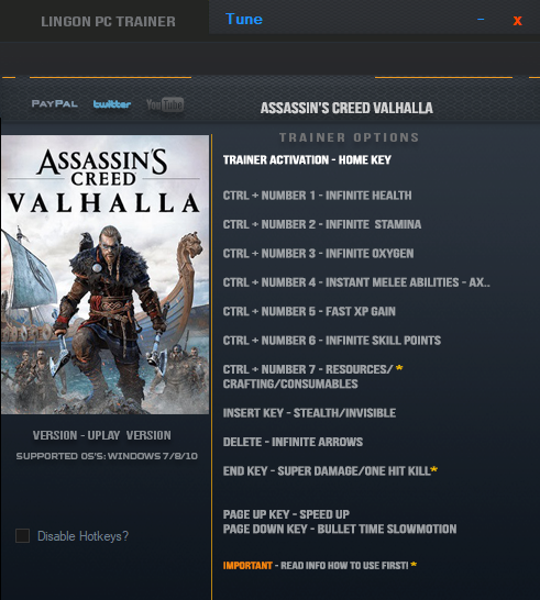 Assassin's Creed: Valhalla: Trainer (+12) [1.0.2] {LinGon}