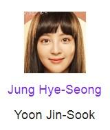 Jung Hye-Seong pemeran Yoon Jin-Sook