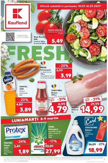 Kaufland Promotii + Catalog-Brosura 10-16.03 2021