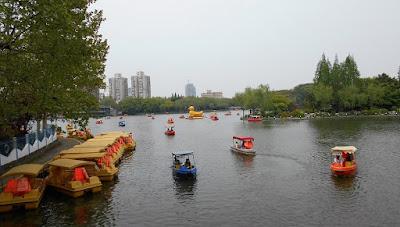 長風公園のボート遊び