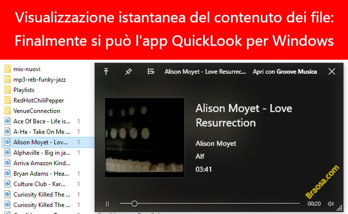 Come visualizzare in anteprima file Windows con Quicklook