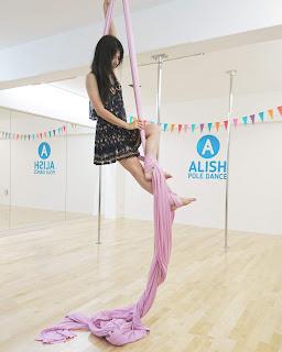 エアリアルシルク エアリアルフープ エアリアル ALISH POLE DANCE 千葉県市川市本八幡 スタジオ