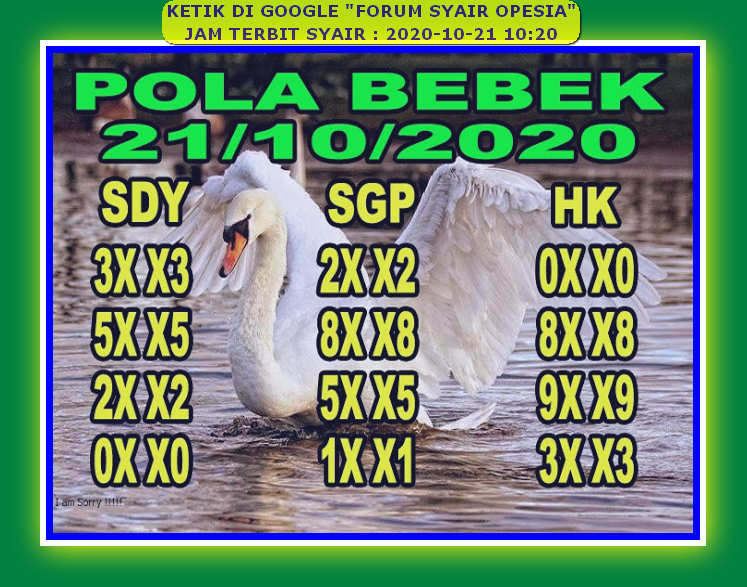 Kode syair Singapore Rabu 21 Oktober 2020 40
