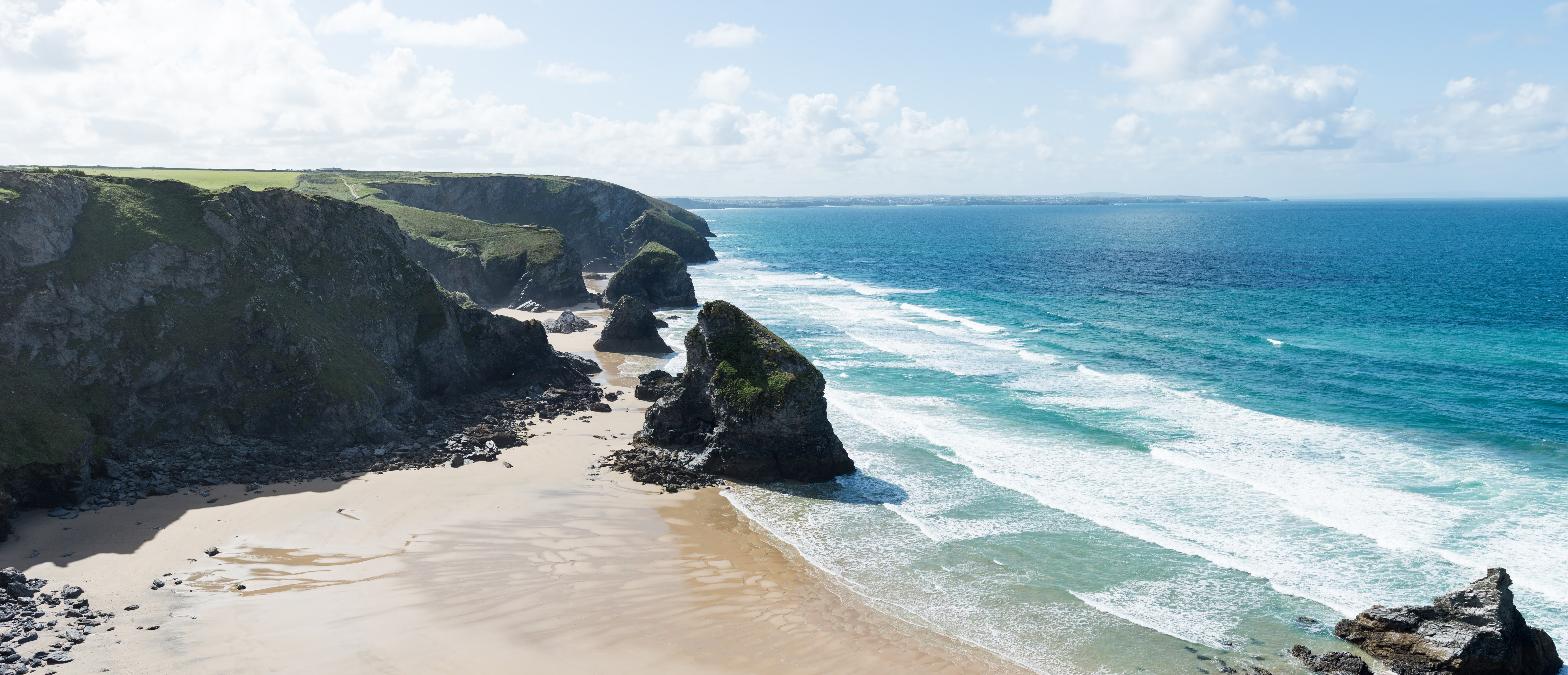 View of Bedruthan steps