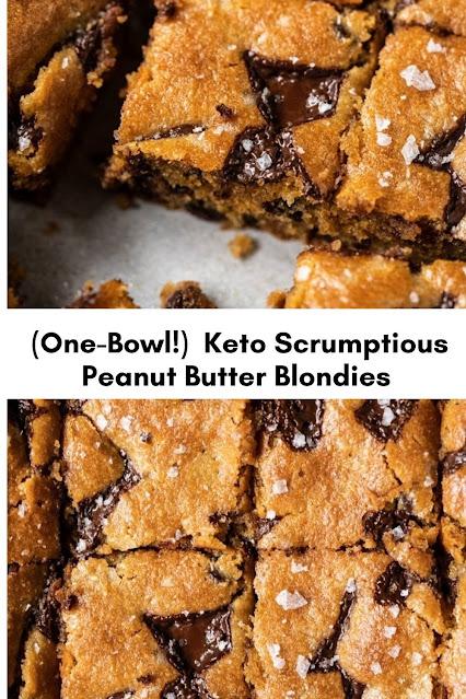 (One Bowl!) Gluten Free & Keto Peanut Butter Blondies