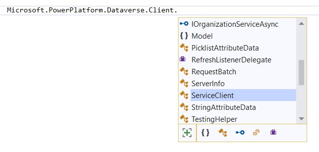 Microsoft.PowerPlatform.Dataverse.Client and ClientSecret AuthType