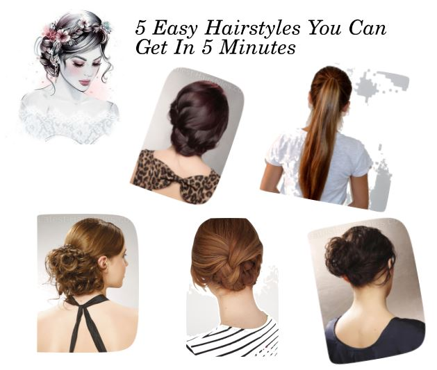 5 Easy Hairstyles You Can Get In 5 Minutes Drab To Fab Bling Sparkle