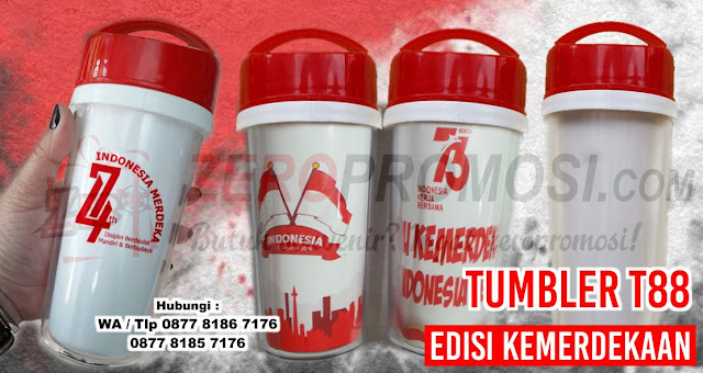 jual Souvenir Tumbler Edisi Kemerdekaan, Merchandise Agustusan, Tumbler T88