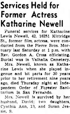 Katherine Lewis Obituary