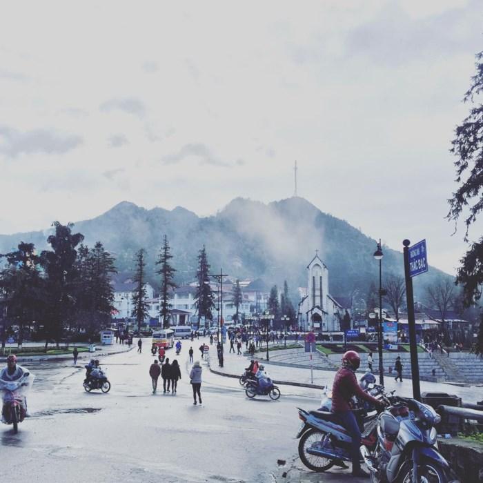 Hình ảnh thị trấn Sapa mùa Đông
