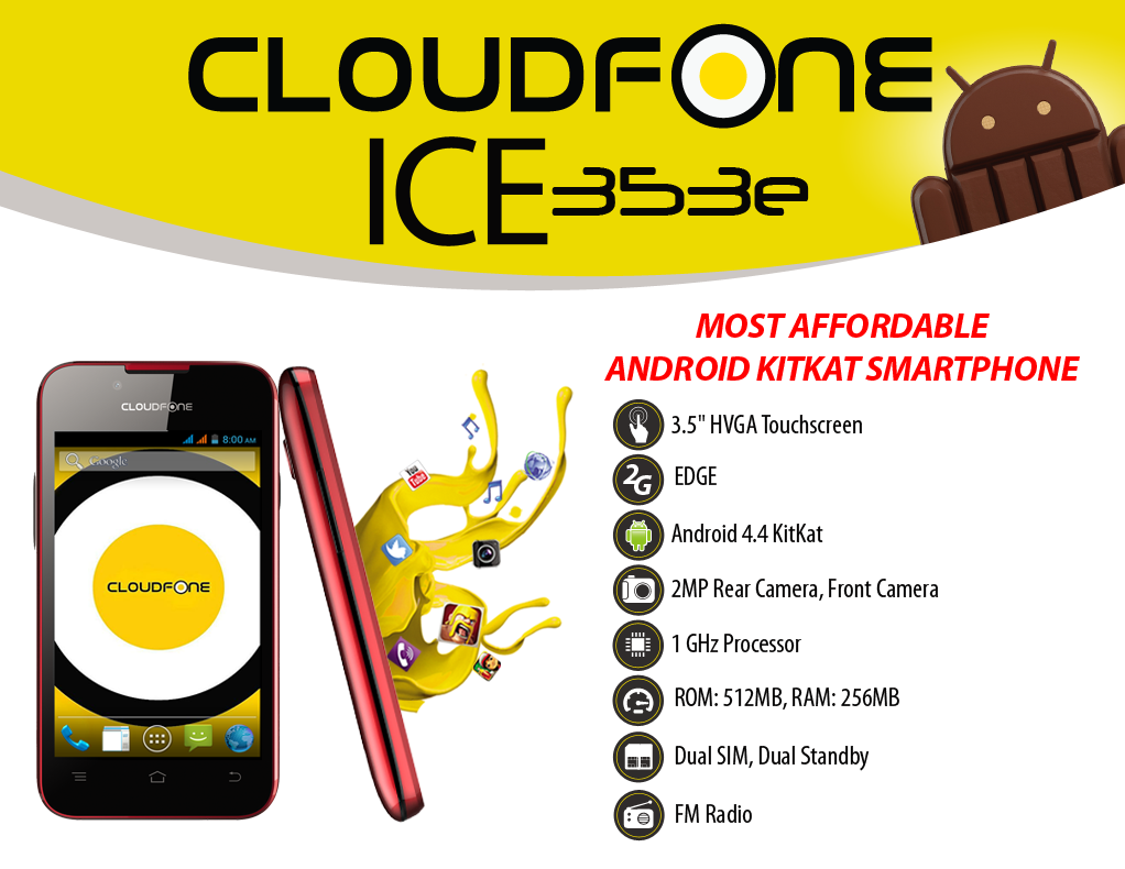 CloudFone Ice 353e Specs and Price