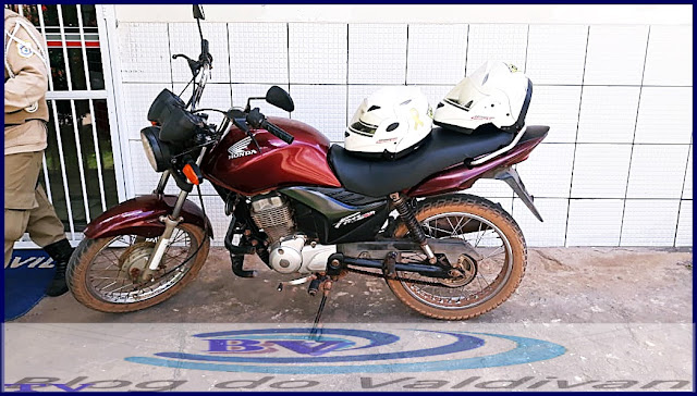 Motocicleta roubada em Piripiri-PI é recuperada pelos Agentes de Transito em Chapadinha