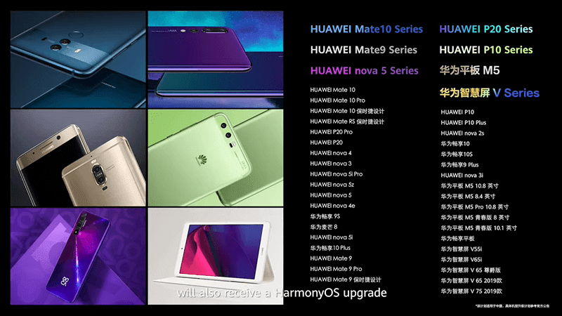 Roughly a hundred Huawei devices are receiving the update for HarmonyOS 2