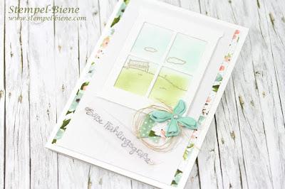 Stampin Up Happy Home, Stampinup Frühlingskarte; Stampin up Botanischer Garten; Match the Sketch; Stempel-Biene; Stempelparty stampin up; Stampinup bestellen