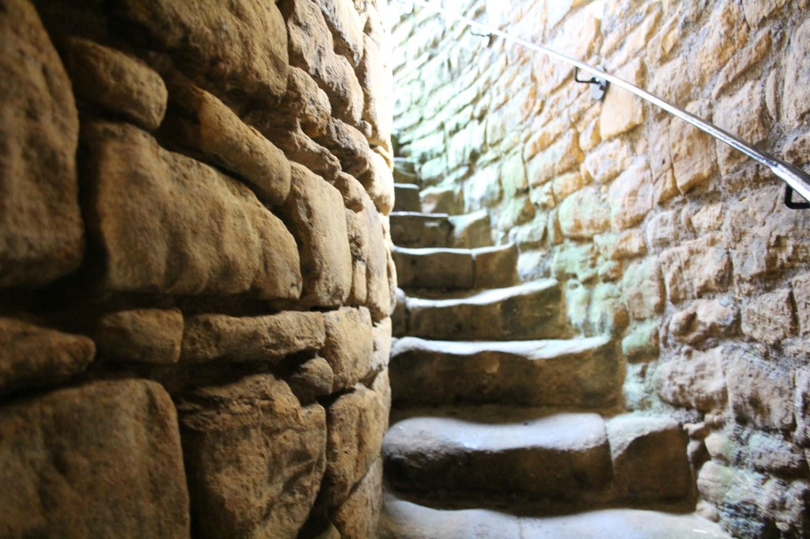 Stone spiral steps castle