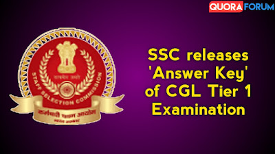 SSC releases 'Answer Key' of CGL Tier 1 Examination