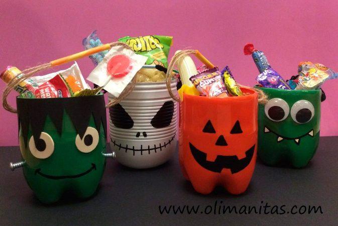 cestos diy para truco o trato en halloween