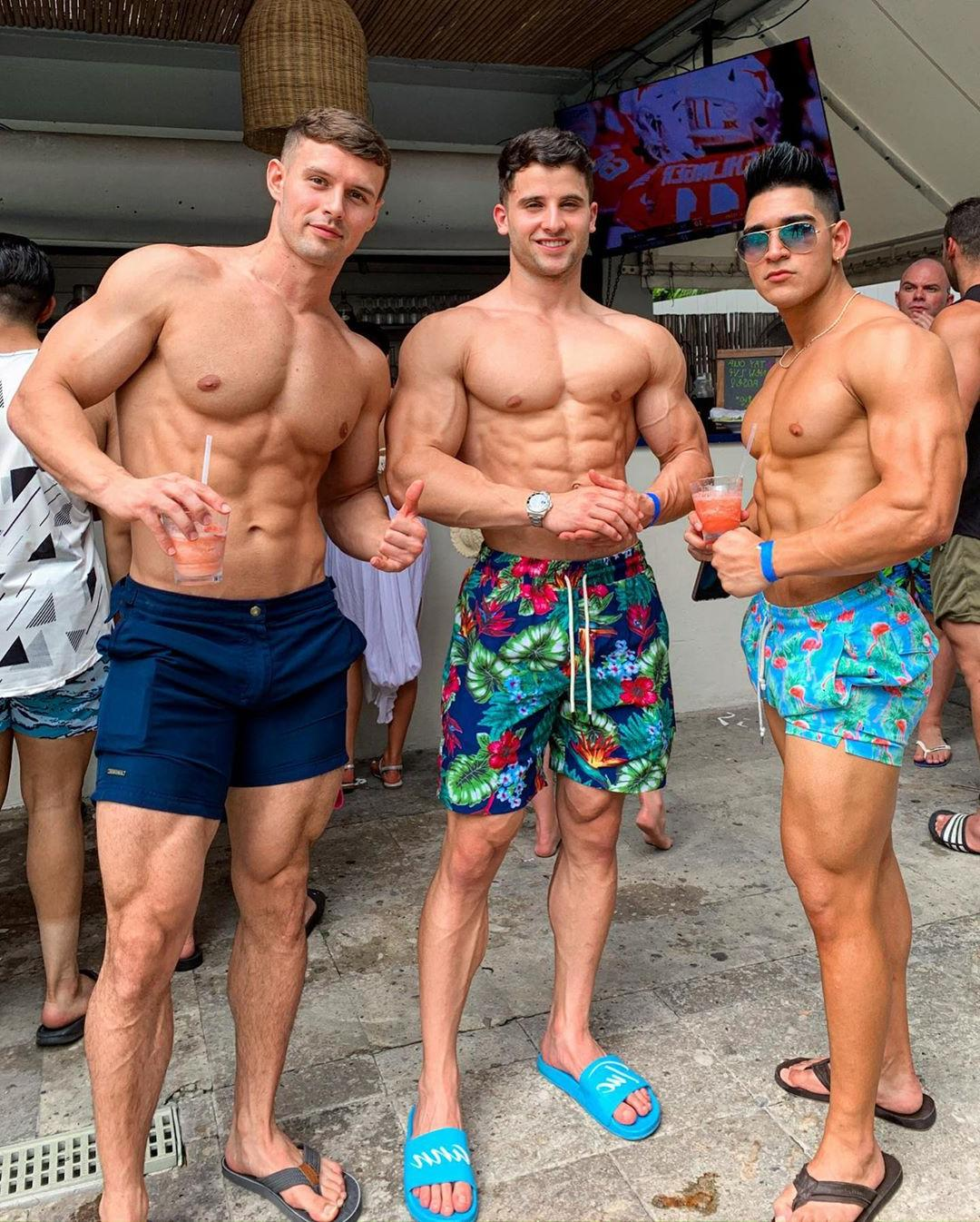 third-time-is-the-charm-shirtless-muscle-buddies-drinking-alcohol-crazy-summer-hookup-party