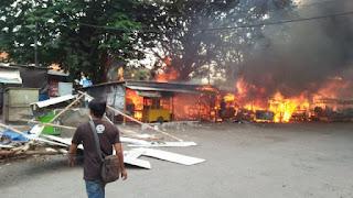 Pasar Harjamukti habis terbakar