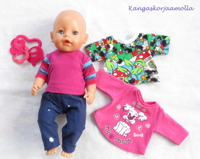 Baby Born nukelle kaavat
