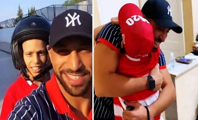 نضال السعدي يتفاعل مع الطفل أحمد المريض بالسرطان (فيديو)