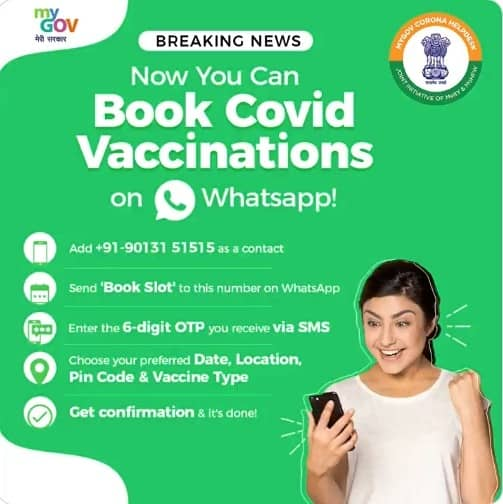 Covid-19-Vaccine-WhatsApp-Appointment-Slot-Booking-Number