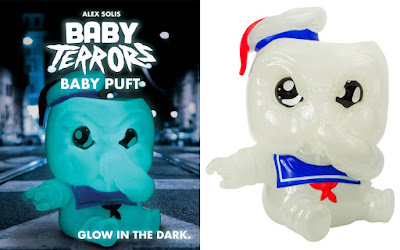 Baby Terrors Ghostbusters Glow in the Dark Edition Baby Puft Vinyl Figure by Alex Solis x Mighty Jaxx
