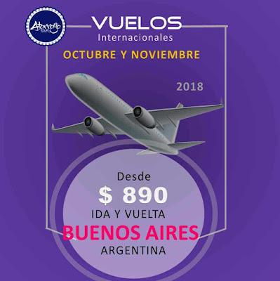 imagen vuelos Buenos Aires Octubre y Noviembre 2018