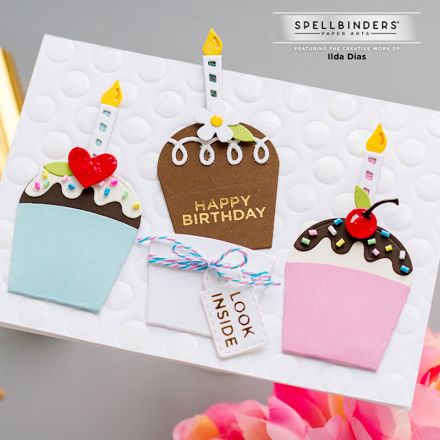 birthday,Tina Smith Sweet Street Collection,Sweet Treat Surprise Cards,Spellbinders,interactive card, Cupcakes, Birthday Cake, Card Making, Stamping, Die Cutting, handmade card, ilovedoingallthingscrafty, Stamps, how to,