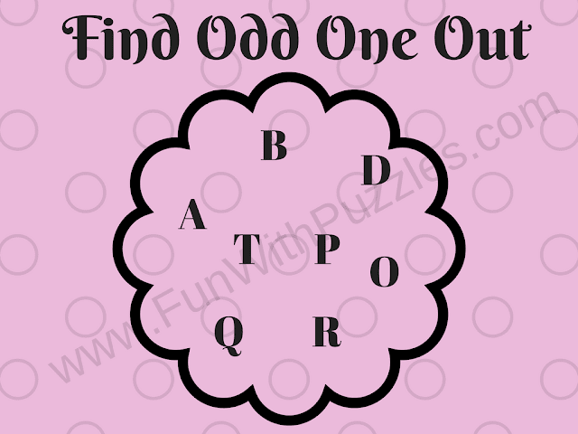 Letters Odd One Out Hard Puzzle