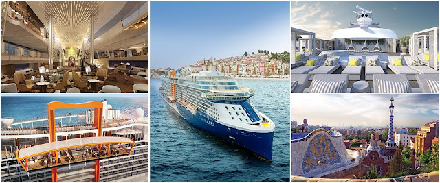 European Cruises Featured on Celebrity Cruise Newest ship  - the celebrity Apex in 2020