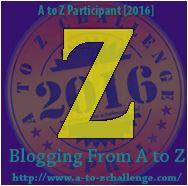 Z is for Zunker and time for ZZZ's #AtoZChallenge2016
