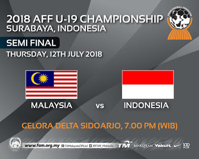 Live Streaming Malaysia vs Indonesia AFFU19 ( 2018 )