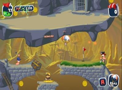 百戰天蟲:瘋狂高爾夫(Worms Crazy Golf),多樣豐富的卡通運動遊戲!