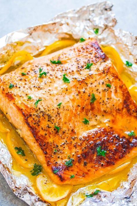 Sheet Pan Lemon Garlic Butter Salmon